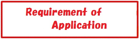 English requirement of Application